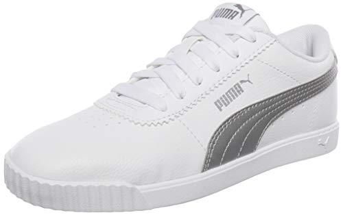 PUMA Damen Carina Slim SL Sneaker, Weiß White Silver, 37.5 EU