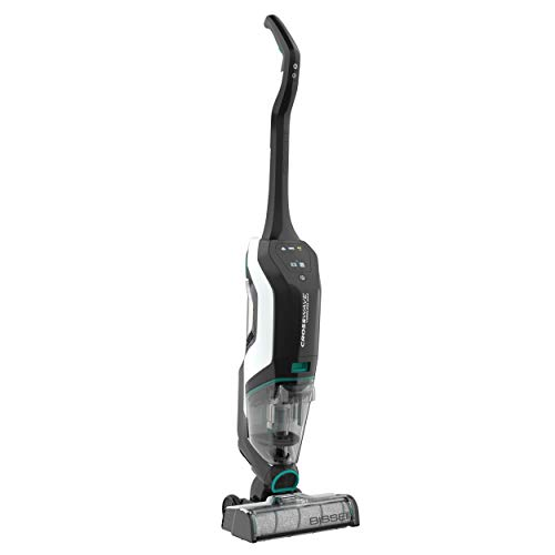 BISSELL, 2554A CrossWave Cordless Max All in One Wet-Dry Vacuum Cleaner and Mop for Hard Floors and Area Rugs, Black/Pearl White with Electric Blue Accents