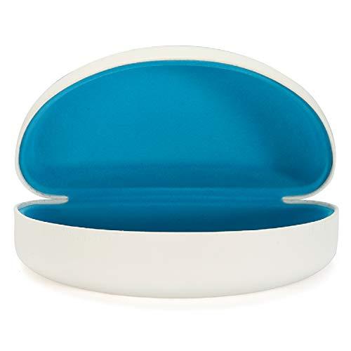 ALTEC VISION Sunglasses Case - Fits Extra Large Frames - White/Blue