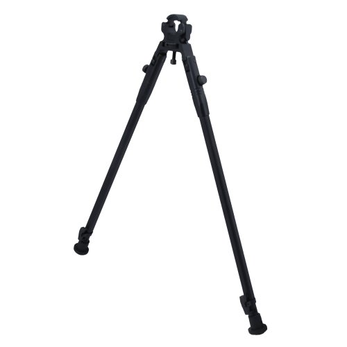 CCOP Tactical Hunting Clamp-On Rifle Fully Adjustable Bipod Stabilizer, Small