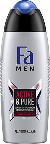 FA MEN 3in1 Duschgel Active & Pure mit aktivierend-frischem Duft, 6er Pack (6 x 250 ml)