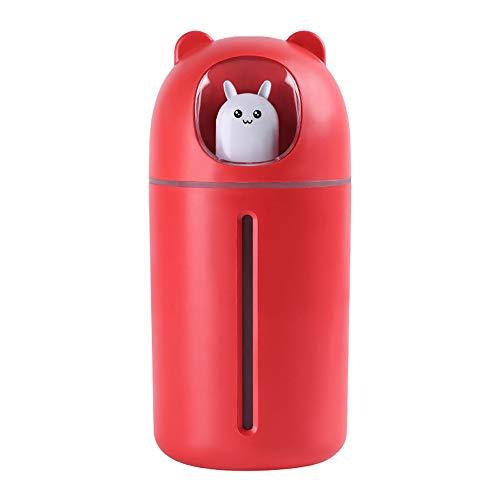 HBRE Nano PulvéRisateur De Brume pour La Peau,USB Humidificateur Nettoyage Pores Soins OpéRation Silencieuse Nano Jet d'eau 350 ML,Humidificateur Facial Vapeur Hydratant Hydratant,Red