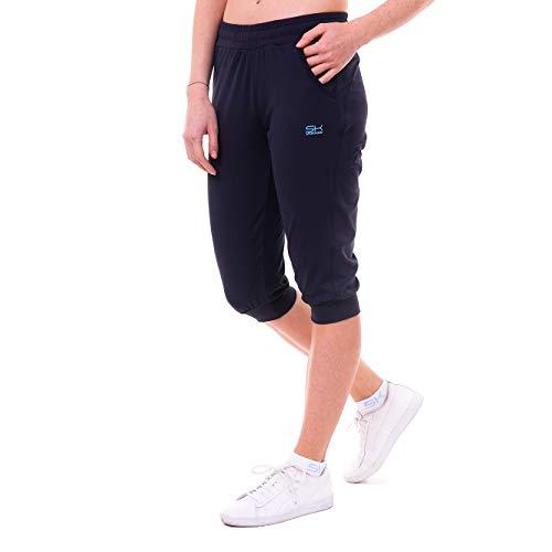 Sportkind, meisjes en dames, tennis, fitness, sport capribroek met zakken, marineblauw, maat 152
