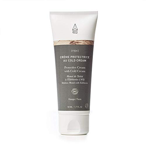 EQ - Crème protectrice au Cold Cream 50ml - au Monoï de Tahiti Edelweiss (AO) - Certifié BIO par ECOCERT et Labellisé COSMEBIO