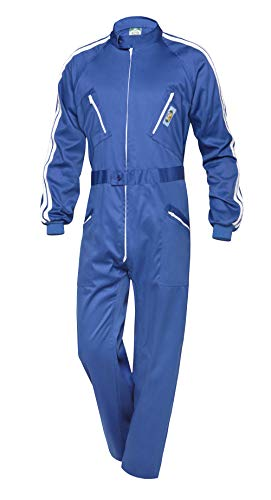 Mono De Trabajo Seguridad Manga Larga de Hombre Azul Mecanico Electricista. Talla 52. Ref: 122