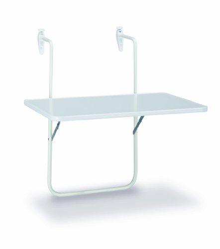BEST 36506400 Balkon Hängetisch Boy 60 x 40 cm, weiß
