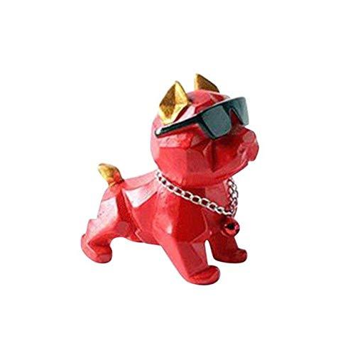 HELOU Lovely Car Dashboard Toys Decor Nodding Dog Car Ornament French Bulldog Cute Wobble Bobble Head Puppy Dolls,Black