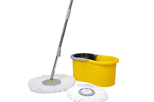 Esquire Elegant Yellow 360° Spin Mop Set with Additional Refill