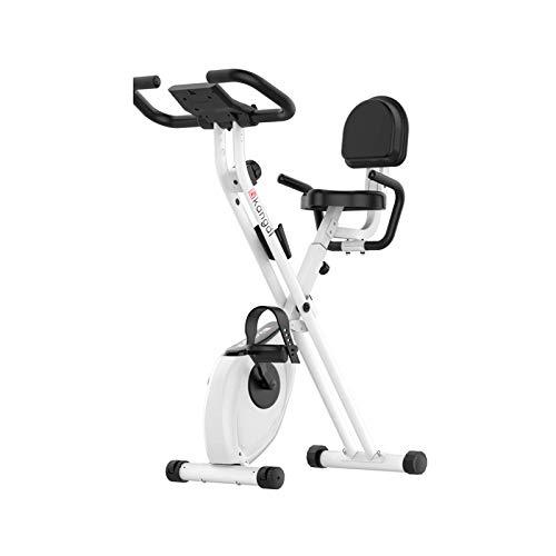 WGFGXQ Bicicleta estática 150 kg Peso del Usuario - Ciclo de Gimnasio Vertical Giratorio magnético? Y?Entrenador Plegable? para? Entrenamiento en casa? Y?Cardio