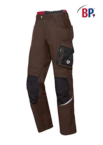 BP Latzhose, Stretch-Hosenträger mit Clipbefestigungen, 285,00 g/m² Stoffmischung, Nachtblau/Schwarz,52/54s