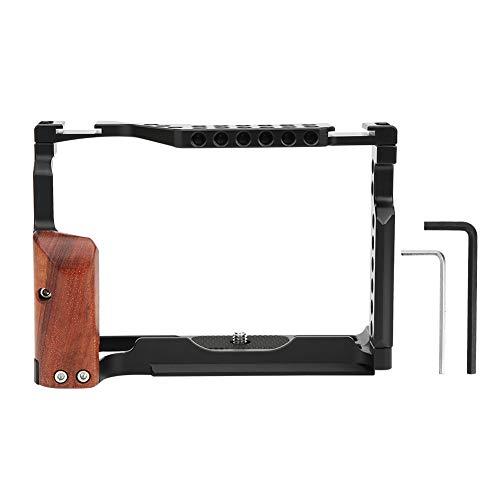 Estante de extensión de cámara de aleación de aluminio multifuncional, se puede conectar con productos de interfaz de zapata, con orificios de posicionamiento, para cámara sin espejo Fuji XT-3