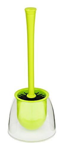 WENKO 22550100 WC-Garnitur Fiesta - WC-Bürstenhalter, 14,5 x 37 x 14,5 cm, grün