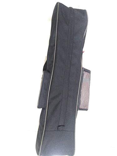 THE NAKS STORE Yoga mat Cover/case Bag for Yoga mat for All Gender Black Green Nylon Matti Fabric Sling Yoga Bag for Unisex, Light Weight & Strong (Black)