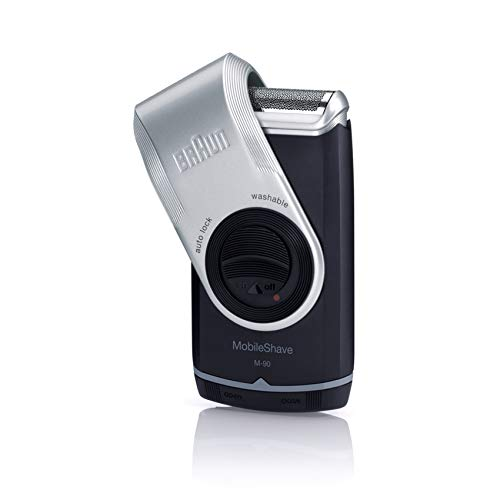 Braun MobileShave M-90 Travel Shaver Silver (Precision Trimmer, Smart...