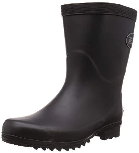 [コーコス信岡] 作業長靴 軽半長 ショート丈 吸汗裏布 ジプロア メンズ ブラック 25 cm 3E