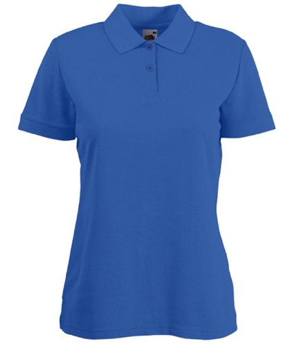 Fruit of the Loom Oxford- Blusa para mujer 65–35–Polo de manga corta–Mediana–Azul...