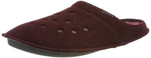 Crocs Classic Slipper, Zapatillas de Estar por casa Unisex Adulto, Rojo, 39/40 EU