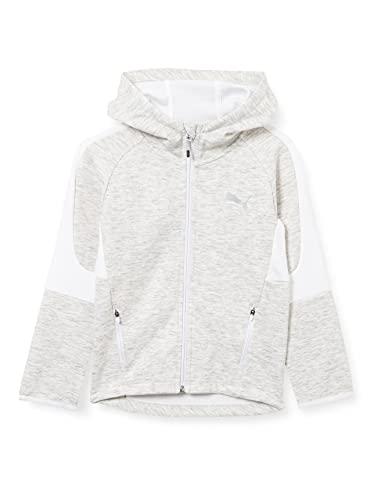 PUMA Evostripe Full-Zip Hoodie B Sudadera, Niños, White, 152