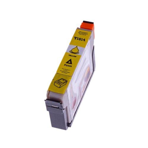 Cartucho de tinta para Epson T 1814T1814con chip para Epson Expression Home XP 30/XP 102/XP 202/XP 205/XP 302/XP 305/XP 402/XP 405(Amarillo/Yellow)