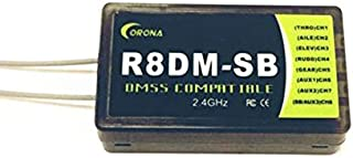 Part & Accessories 1PC CORONA 2.4GHz R8DM-SB Compatible Receiver Receivers for JR DMSS XG6 XG7 XG8 XG11 2.4GHz Transmitters RC Model Spare Parts