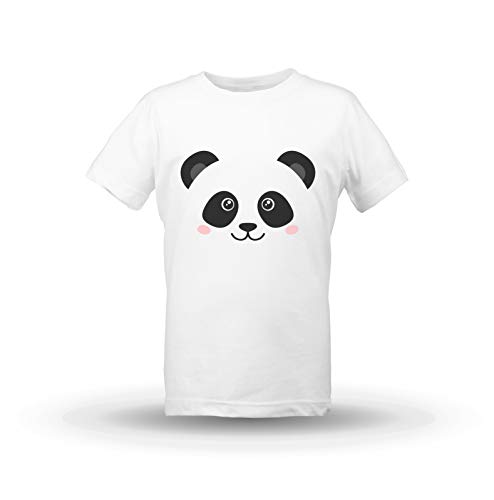 Kristalas Enfants T Shirt Filles Panda Cute Panda Animal Panda Lovers Digital Print Smile Blanc 1112 Ans