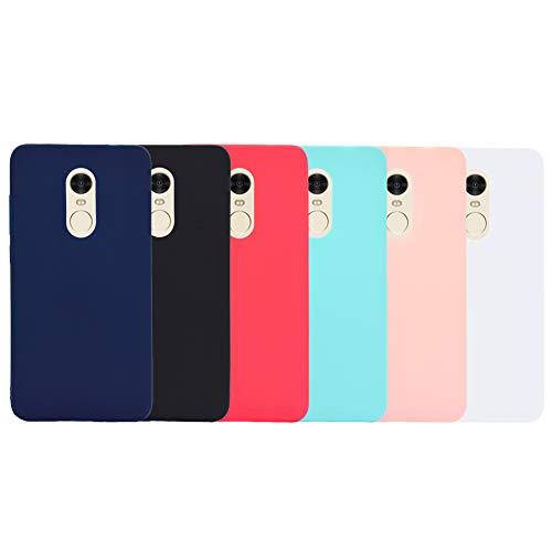 6X Funda Xiaomi Redmi Note 4 Silicona Carcasa Suave