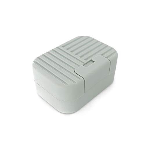 Jabonera Caja de jabón portátil de plástico Soporte de Sellado Rack de contenedores con Tapa para Viajes Senderismo Camping Cocina Cocina Cuarto de baño Ducha Lavado Jabonera (Color : ABlue)