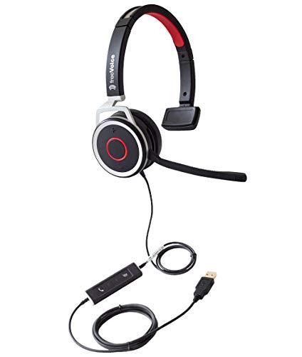 freeVoice Space Corded Mono NC (USB), FSP440UCM, Profi Headset, drahtgebunden für Softphones und Mobile