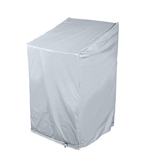 bremermann Schutzhülle für Stapelsessel, hochwertig, für bis zu 4 Gartenstühle, Abdeckhaube wetterfest, grau