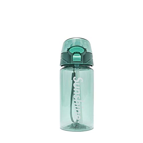 MSNLY Personalisierte Plastikbecher Sport im Freien auslaufsicherer tragbarer Wasserkocher männliche und weibliche Studenten Tasse Erwachsenen Trinkbecher