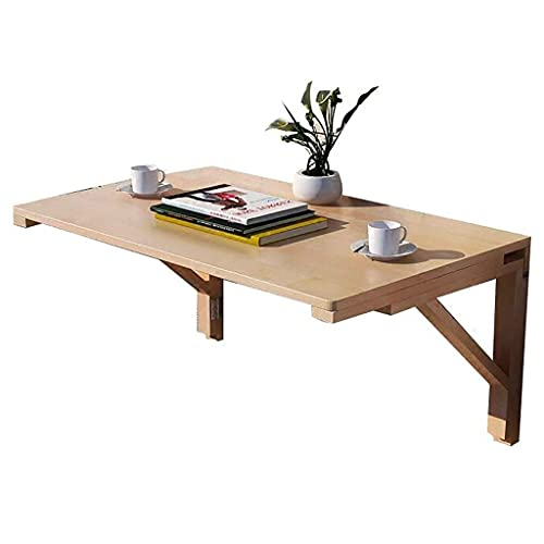 Fold Up Table, Wall Desks for Small Spaces, Wood Wall Mounted Table, Stable Sturdy Construction, White Wall Table, Easy to Install (Size : 100cm×40cm)