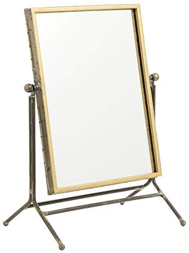 Nordal Spiegel zum Aufstellen, goldfarben, 33x44 cm