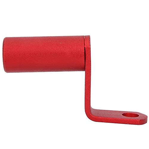 Blantye Soporte de Espejo retrovisor Lateral para Motocicleta, Soporte para teléfono con Barra de Abrazadera de Montaje(Rojo)
