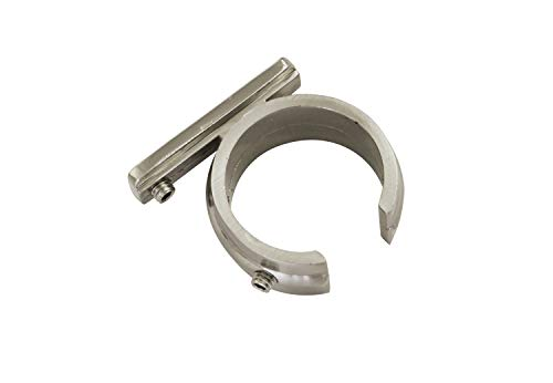 GARDINIA Ring Adapter für Universal Träger für Gardinenstangen Ø 25 mm, 2 Stück, Serie Windsor, Metall, Edelstahl-optik