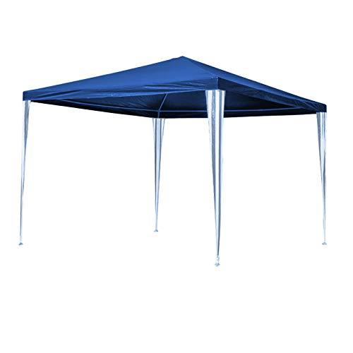 Hengda Pavillon Wasserdicht 3x3m Blau Stabiles Partyzelt Material PE-Plane Sonnenschutz Gartenpavillon für Markt Garten Terrasse