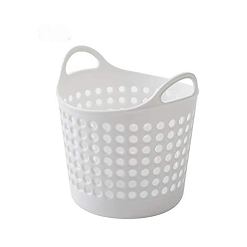 1PC Potable Plastic Organizer Basket Makeup Brush Cosmetic Holder Office Desk Organizer Mini Pen Pencil Holder Plastic Container Basket For Home School(White)