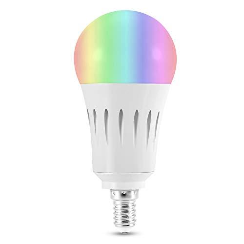 CUEA Bombilla LED Wi-Fi, práctica y práctica Bombilla con Control Wi-Fi, 16 Millones de Colores Disponibles, para teléfono residencial(E14)
