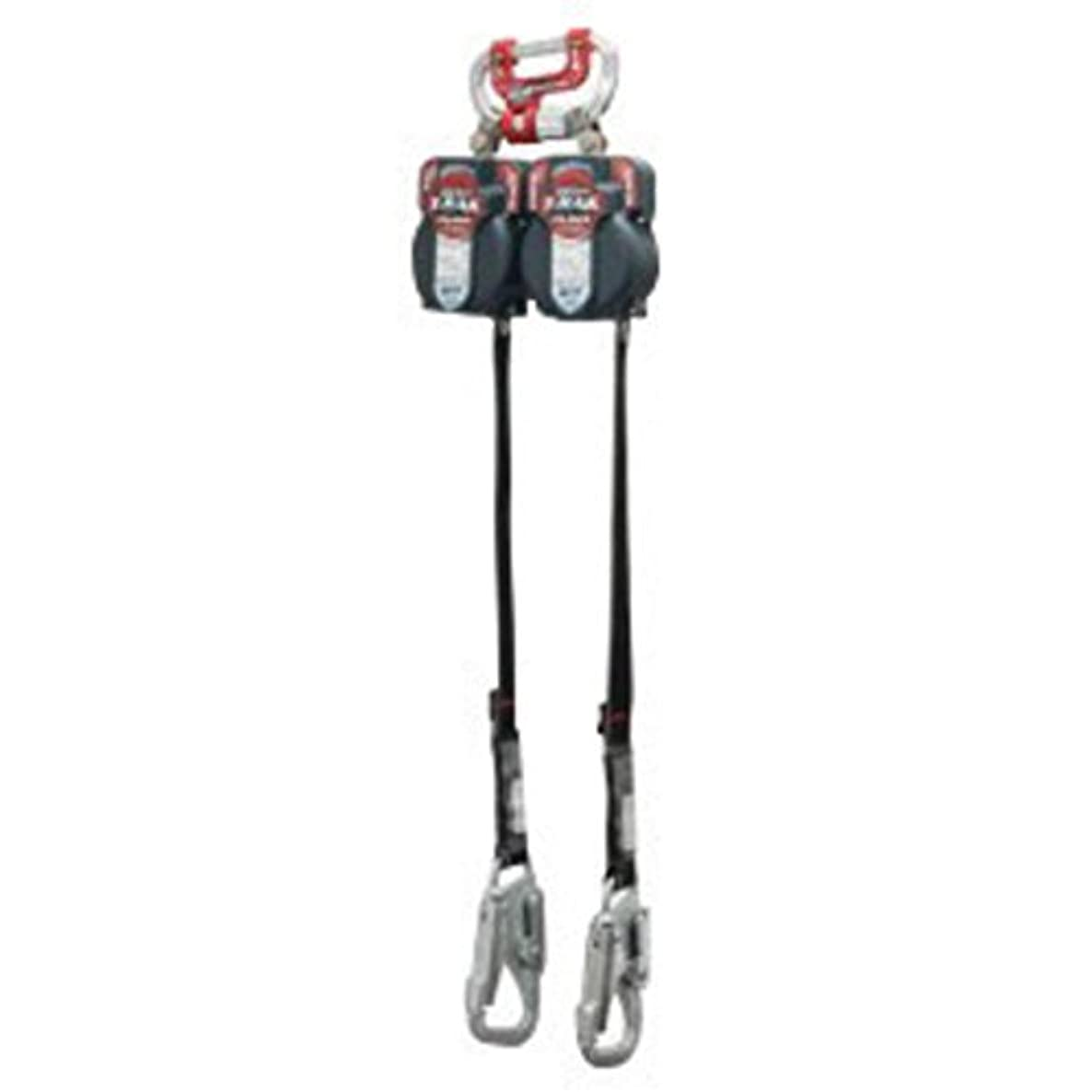 Miller? 7 1/2' Twin Turbo T-Bak Fall Protection System (Includes Twin Turbo G2 Connector, (2) MFLT-1/7.5FT Turbo T-Bak Personal Fall Limiters, Strength Snap Hook And Zinc Plated Steel 5K? Gate Hook)