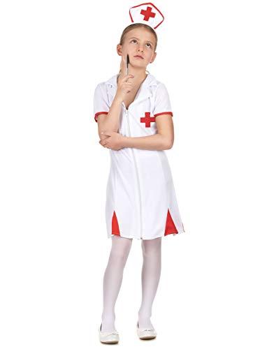 DEGUISE TOI Déguisement infirmière Rouge et Blanc Fille - L 10-12 Ans (130-140 cm)