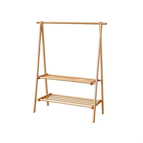 LICHUAN Perchero de madera para zapatero de entrada, estante de almacenamiento, para la entrada, sala de estar, dormitorio, decoración del hogar, fácil montaje (tamaño: 120 cm)