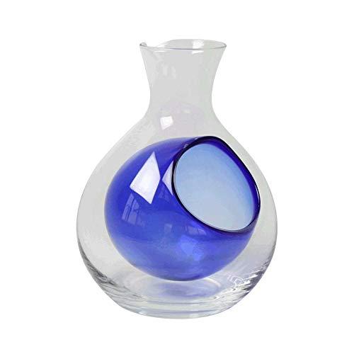 ガラス 徳利 冷酒 200cc(1合) 氷ポケット付 ブルー 日本酒 冷酒徳利 とっくり おしゃれ 保冷 食洗機対応 青