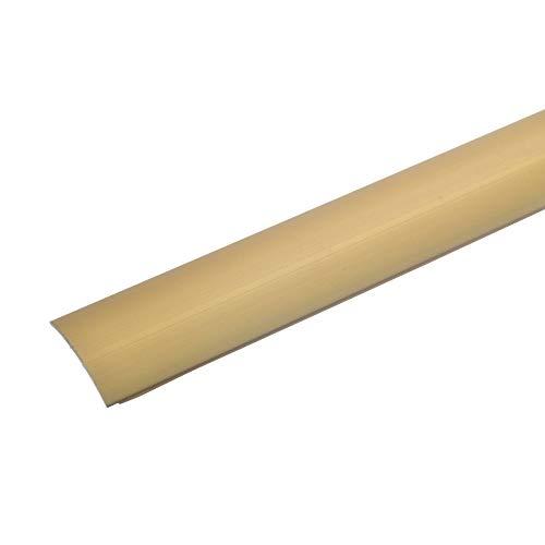 acerto 32005 Übergangsprofil aus Aluminium selbstklebend * 28 mm Breit * 1,5 mm Stark Robust * Kratzfest | Übergangsleiste Teppich Laminat & Parkett | Alu Übergangsschiene zum Kleben (100 cm, gold)