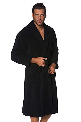 JP 1880 Homme Grandes Tailles Peignoir éponge col châle Tissu en Coton Noir 6XL 702388 10-6XL
