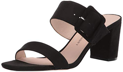 Chinese Laundry Women's Yippy Heeled Sandal BLACK SUEDE 6.5 M US