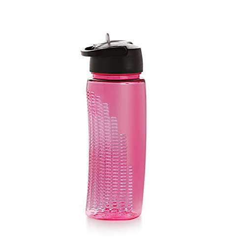 Cello Sports Water Bottle BPA Free 24 Oz (700 ml) Powerade Ergonomic Water Bottle with Wide Mouth & Easy Flip Top Cap for Office, Gym, Swimming, Running, BPA Free Reusable Drinking Container (Pink)