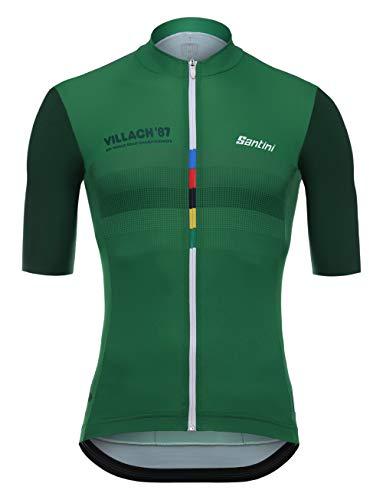Santini UCI Triple Crown, Maglia Manica Corta Uomo, Multicolore, M