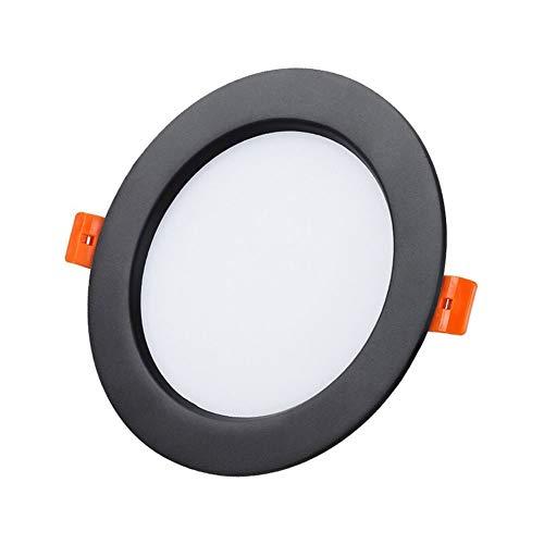 Zziyj LED Empotrada Techo Luces De Techo 24w Spotlights Downlights Cut 190-220mm Cool White 6000k Equivalente 230W 1960LM 220V Downlights For Baño Cocina Techo 1 Paquete Negro [Energy Class A +]