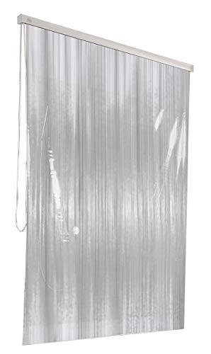 Kleine Wolke 3321108747 - Estor enrollable de ducha para cajetín vacío de la marca, 128 x 240 cm, color blanco