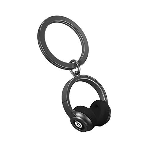 Llaveros con auriculares 3D con encanto Beats. Joya-llavero de metal vintage de color...