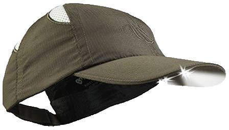 Panther Vision 280631- Gorra con luz LED incorporada para actividades aire libre o para trabajos en condiciones de poca luz, color Verde oliva